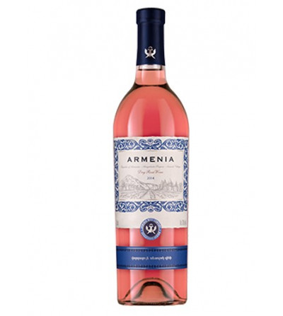 Bottle of Rose Dry Wine from Armenia Wine