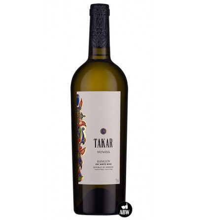 Bottle of Takar White Dry Wine from Armenia Wine