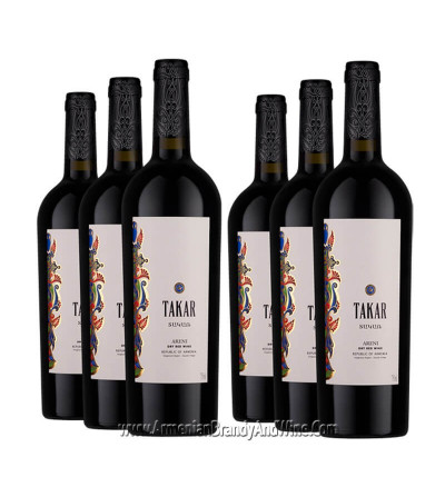 Bottle of Takar Red Dry Wine from Armenia Wine