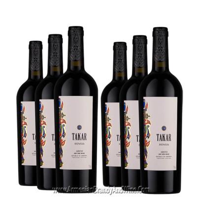 Bouteille de vin rouge sec Takar de Armenia Wine