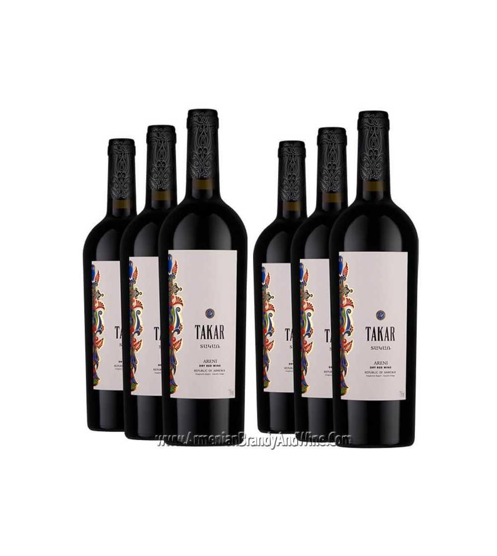 Bottle of Takar Red Dry Wine from Armenia Wine